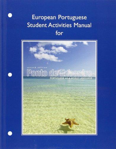 - European Student Activities Manual for Ponto de Encontro: Portuguese as a World Language