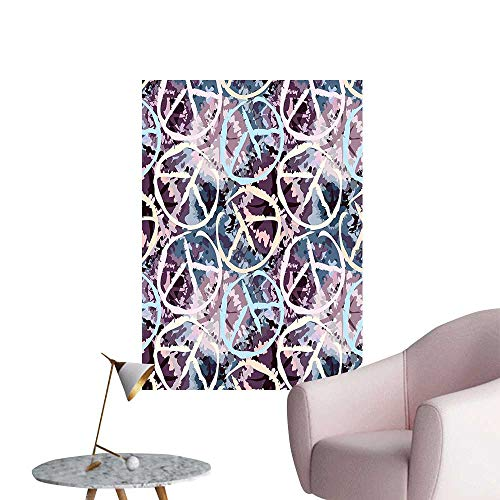 Wall Decoration Wall Stickers Digital Pacific Symbol on Batik Backdrop with Blocked Out Color Splashes Art Design Print Artwork,32