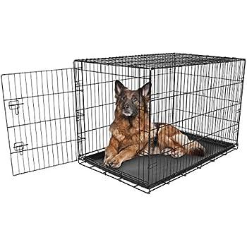 Amazon Com Dog Crate Dog Cage Pet Crate 48 Quot Folding
