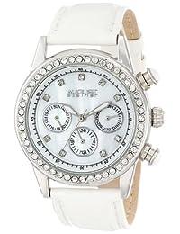 August Steiner Women's AS8018SSW Multi-Function Dazzling Strap Watch