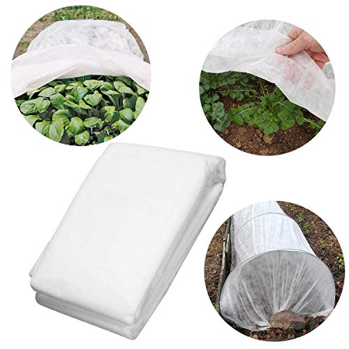 Eco.Fabric Plant Covers Frost Protection & Plant Blanket Fabric Rectangle Winter Plant Cover Protection for Cold Weather 1.2oz,8'x50',White