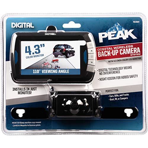PEAK Digital Wireless Back-Up Camera, Color LCD Monitor, 4.3-inch