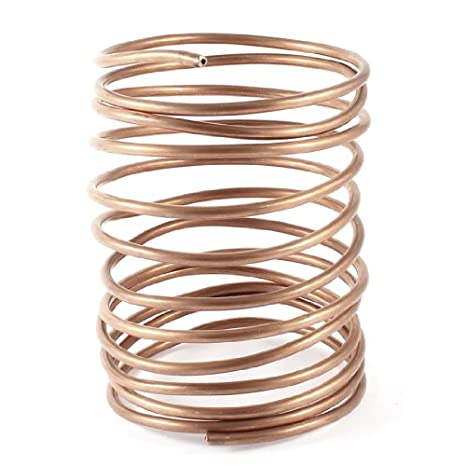 Nxtop 2M 6.56 Long 3 mm Dia Refrigeration Coil Tube Coiled Tubing Wire