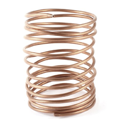 3.2M 10.5Ft Long 3mm Dia Copper Tone Refrigeration Coiled Tubing Coil Model: