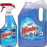 Windex Original Glass Cleaner Set: 1.32 Gallons Refill + 32 Fl.oz. Trigger Spray