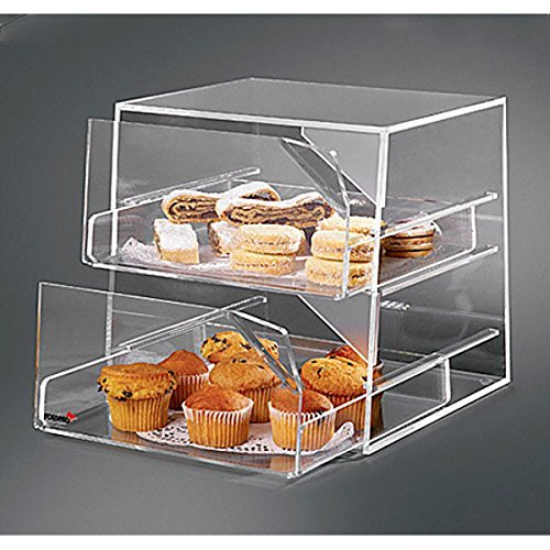 Self Serve Bakery Display Case (Rosseto Two-Drawer Clear Acrylic Bakery Case BAK2231)
