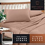 Premium Twin (Single) Sheets Set - Taupe Sand Hotel Luxury 3-Piece Bed Set, Extra Deep Pocket Special Super Fit Fitted Sheet, Best Quality Microfiber Linen Soft & Durable Design + Better Sleep Guide