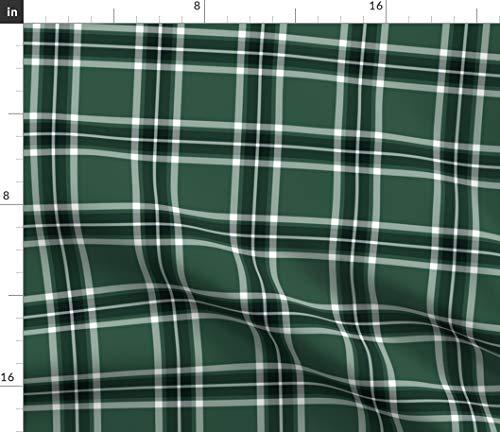 Glen Plaid Fabric (Spoonflower Tartan Fabric - Plaid Glen MOY Glenmoy Green Print on Fabric by The Yard - Denim for Sewing Bottomweight Apparel Home Decor Upholstery)