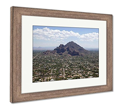 (Ashley Framed Prints Exclusive Living On Camelback Mountain, Wall Art Home Decoration, Color, 30x35 (Frame Size), Rustic Barn Wood Frame, AG6497206)