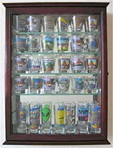 Amazon.com | 36 Shot Glass Display Case Wall Cabinet
