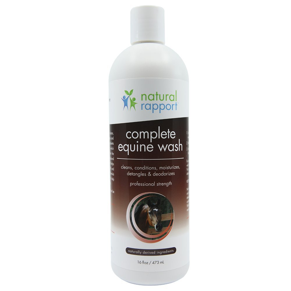 Natural Rapport Horse Shampoo & Conditioner-Full Mane & Tail Treatment for Horses, Equine Wash