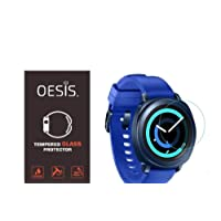 OESIS Screen Protector Arc Edge Tempered Glass Scratch Screen Protector Guard Card for Samsung Gear Sport Smartwatch