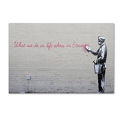 Trademark Fine Art Echoes Wall Decor Banksy -  - wall-art, living-room-decor, living-room - 51xxmEnwQxL. SS400  -