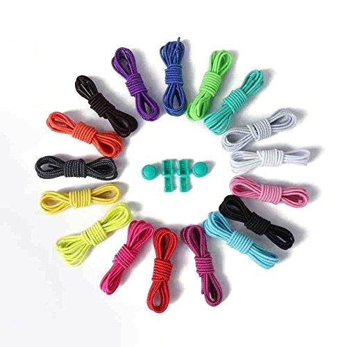 Elastic mit Schnürsenkel Cleats Clips Sneakers grün Keine leuchtend für Ersatz Schuhe Stiefel Binden Laufschuh oobest Cn4HqxBwp