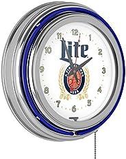 Trademark Gameroom Miller Lite Chrome Double Rung Neon Clock
