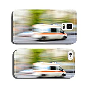Ambulance in motion driving down the road cell phone cover case Samsung S5