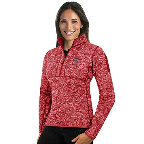 Antigua Pullover Fleece - Womens Polish Polska Antigua Fortune 1/4 Zip Fleece Pullover Eagle Embroided Red