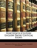 Nineteenth Century English Prose, Frederick William Roe and Thomas Herbert Dickinson, 1148136126