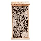 Wood and Bamboo Tower Bee House Habitat - 8 L x 5.5 W x 15.75 H