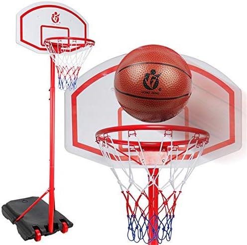 屋内バスケットボールラック 屋内と屋外の大バスケットボールフープはすべて金属製ブラケットを移動できる昇降することができます スタンディングバスケットボールセット (Color : Red, Size : 1.60-2.30m)