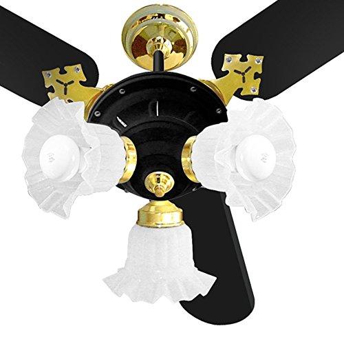 Ventilador de Teto New Zeta 3 Pás 130W Preto Latonado - Venti-Delta - 220V
