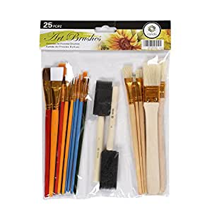 Paint Brush Set CONDA Starter Kit 25-piece Assorted Sizes A10844
