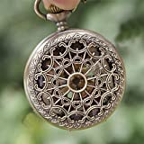 New Arrival Artistic Photos Pattern Brass Quartz Pocket Watch With Chain