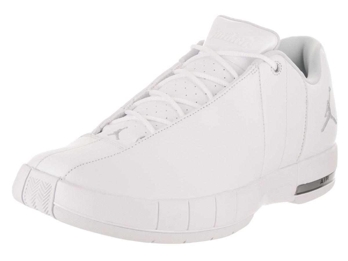 Jordan Nike Men's TE 2 Low Basketball Shoe B07C894V1D 8.5 D(M) US|White / Metallic Silver