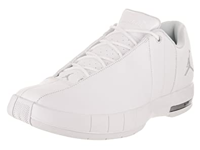 new styles 0486c e5fca Jordan AO1696-100  Team Elite 2 Low Men s White Metalic Silver Sneakers (