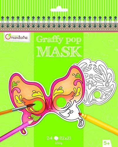 (Avenue Mandarine Graffy Venetian Pop Mask Colouring Pack)
