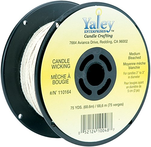 Yaley Candle Wicking Bleached Spool 75 Yards (2 Pack)