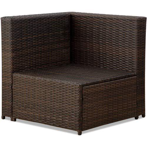 Amazon.com: LDY STORE Juego de sofá de ratán seccional para ...