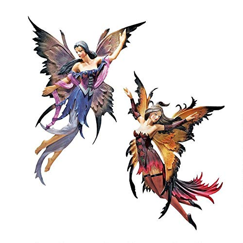 Design Toscano Fairies of the Enchanted Grove Wall Sculptures Set Includes: Rowan and Willow