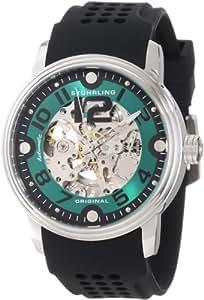 Stuhrling Original Men's 1070.331671 Classic Delphi Adonis Automatic Skeleton Black Rubber Strap Watch