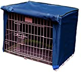 Spring Fever Multi Sizes Pet Kennel Covers Dustproof Windbreak for Dog Crates Blue S(18.111.814.5inch)