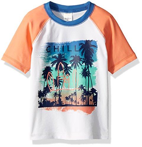er Rashguard, White Hawaiian Chill, 4T (Hawaiian Rash Guard Shirt)