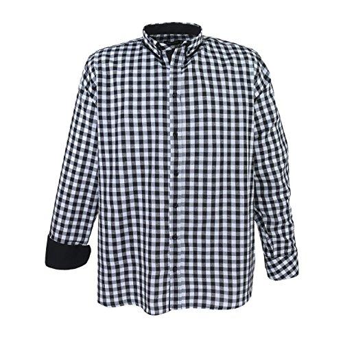 Modernes Herren Hemd in Übergröße in angesagtem Karo-Muster
