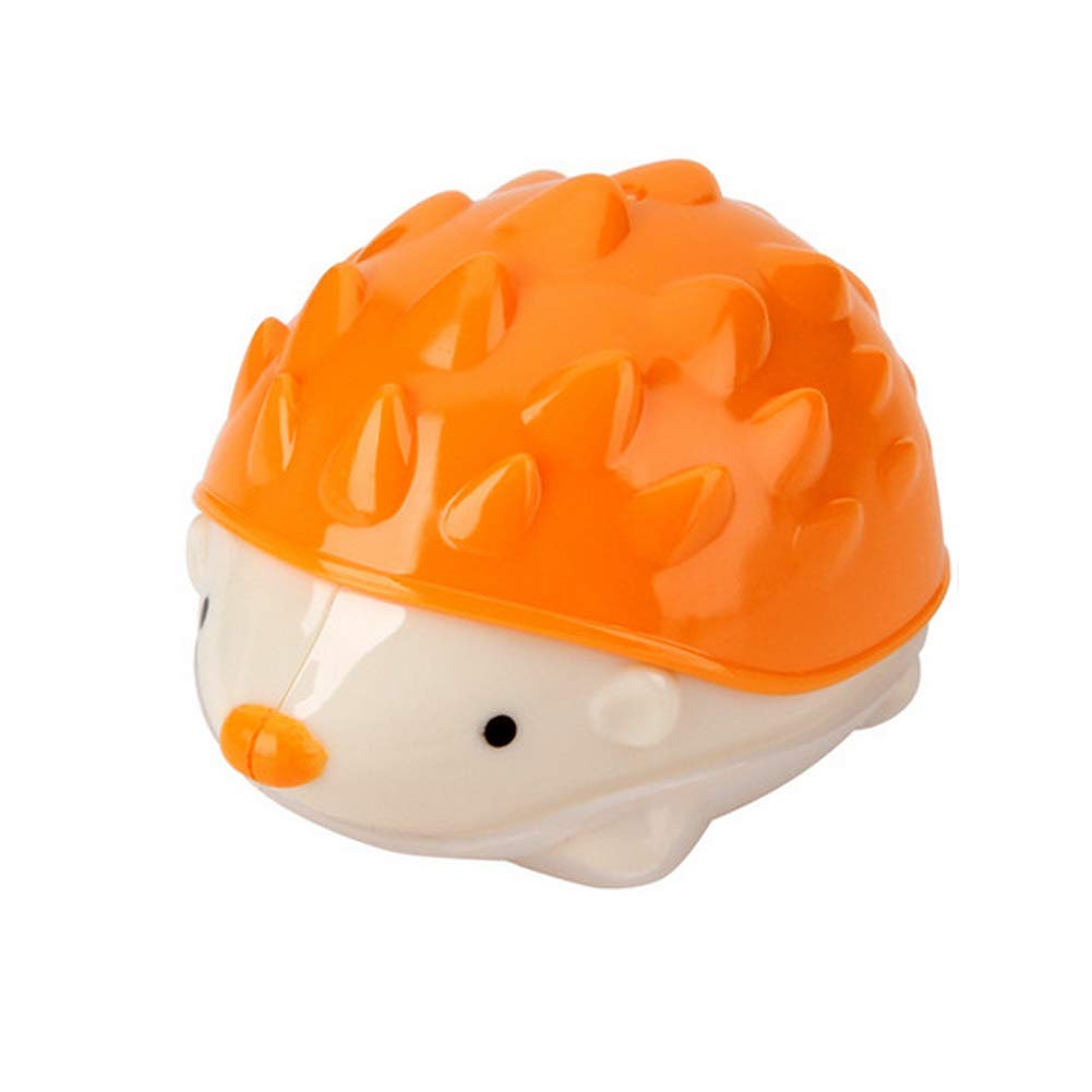 Pencil Sharpener Mini Pencil Sharpener Hedgehog Double Holes Sharpener Holds Stationery Pencil Cutter 2Pcs Random Color Durable and Useful