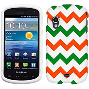 Samsung Galaxy Metrix Chevron Green and Orange on White Phone Case Cover