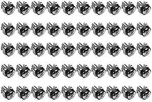 Para montaje de equipos de red en armario rack de 10 y 19 pulgadas en negro kwmobile Set de 20 tuercas enjauladas M6 con tornillos y separadores