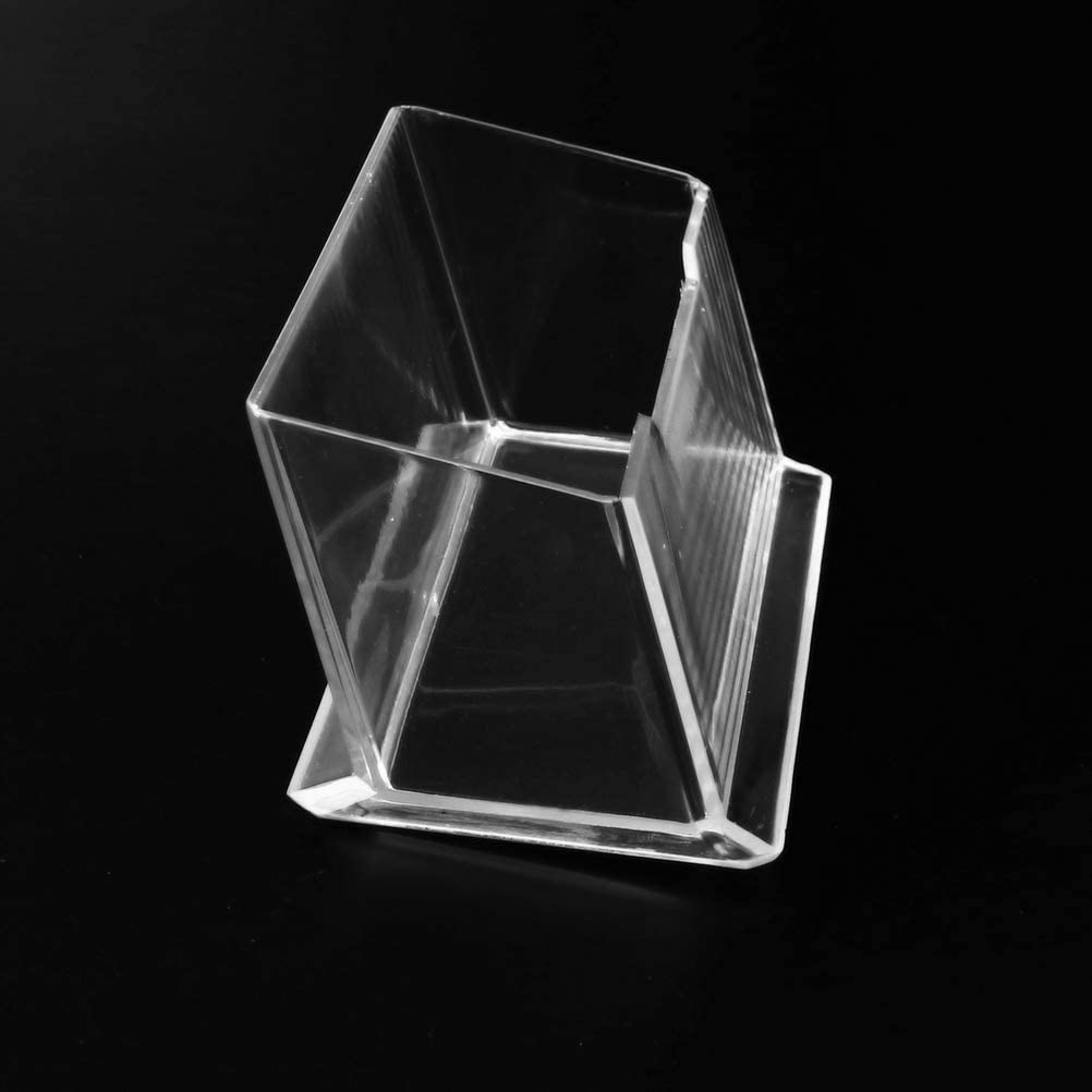 Large Capacity Business Card Display Stand for Desk Office Collection Organizer kuou 5 Pack Clear Business Card Holder