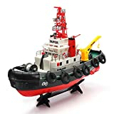 RC Radio Remote Control Ready to Run RTR 2.4G Seaport Tugboat Workboat Ship Model with Lights & Spurt Water