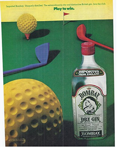 1982 Vintage Print Advertisement for Bombay Dry Gin Distilled London