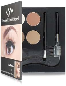 NYX Cosmetics Eyebrow Kit With Stencil Set, Blondes  0.7 Oz