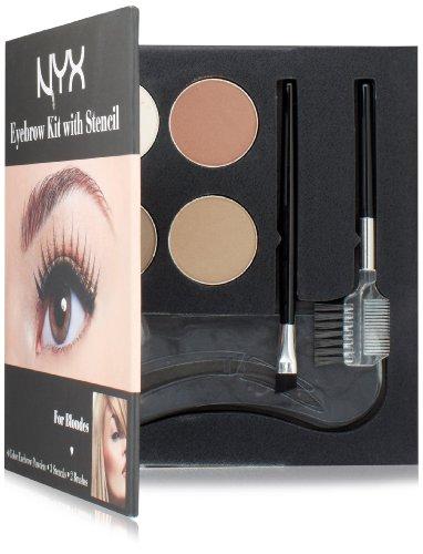 NYX Cosmetics Kit Sourcils Avec Set Stencil, Blondes 0,7 Oz
