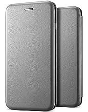 Microsonic 19468 Samsung Galaxy A9 2018 Kılıf Ultra Slim Leather Design Flip Cover Gri