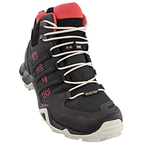adidas outdoor Terrex Swift R Mid GTX Hiking Boot - Women's Black/Black/Tactile Pink, 8.0