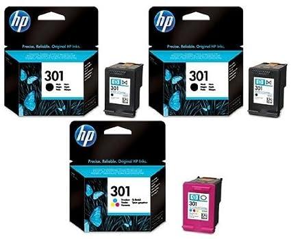 2 x HP 301 Original negro y 1 x cartucho de tinta de color ...