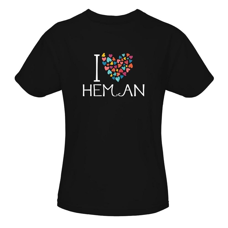 Idakoos I Love Heman Colorful Hearts - Prénoms Masculins - T-Shirt Fille