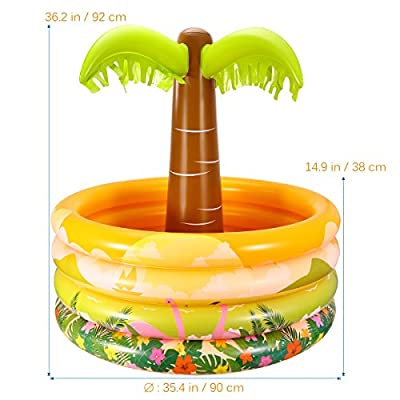 iBaseToy Palm Tree Inflatable Cooler for Chilling Beverages at Summer Outdoor Parties